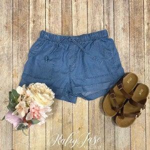 Denim Pull On Shorts