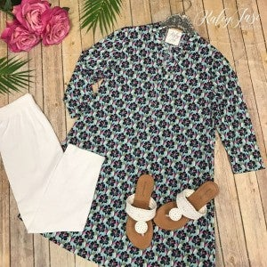 HM Mint Design Floral Gabby Dress