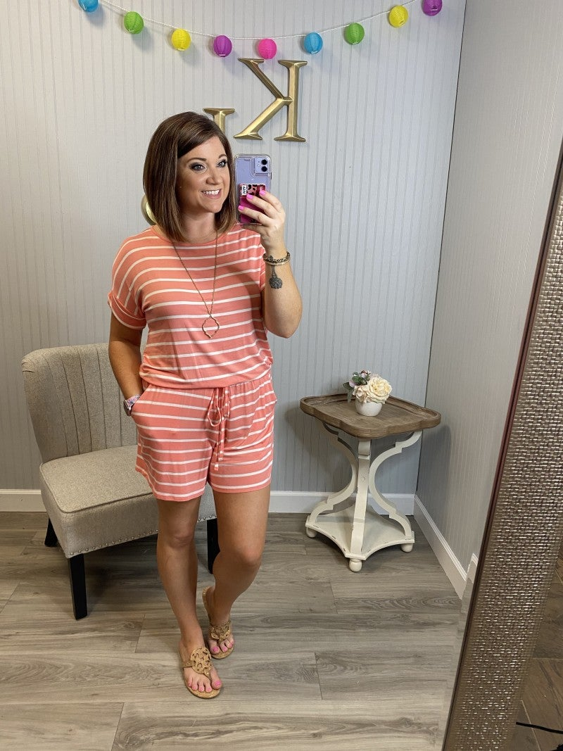 Z Striped Romper