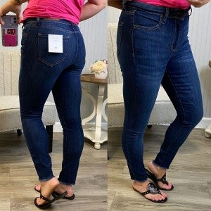 Cello Fray Hem Cropped Jeans