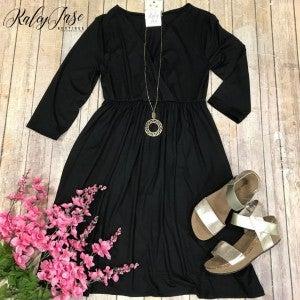 Z Black Wrap Dress