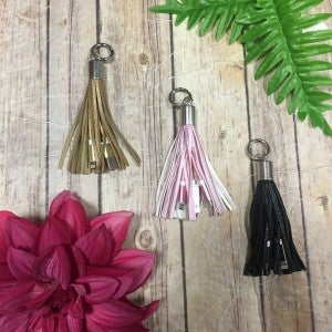 2 in 1 Tassel Charger Keychain