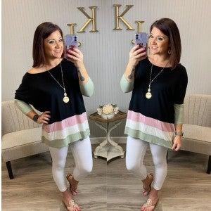 Colorblock Bottom Design Tunic
