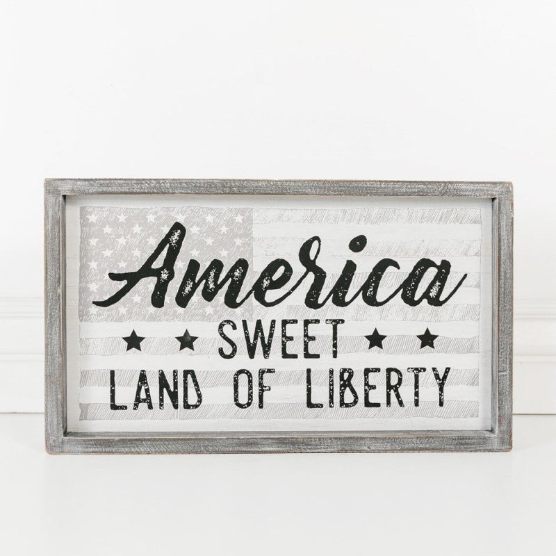 WOOD FRAMED SIGN - AMERICA