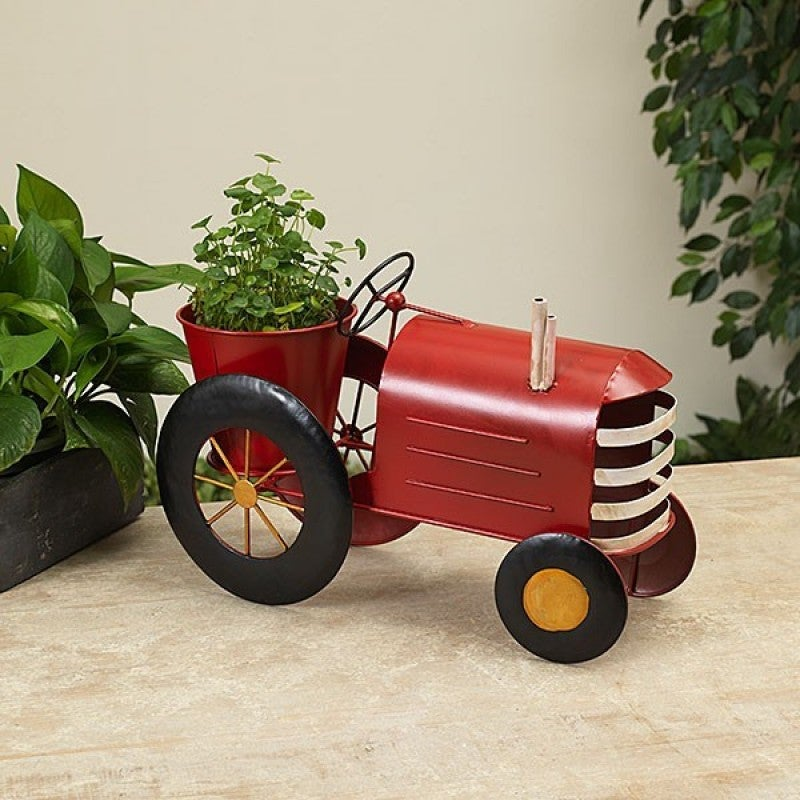 "15.3""L Metal Antique Tractor Planter"