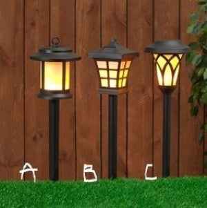 "19""H  Assorted  Solar Lighted Pathway Marker"