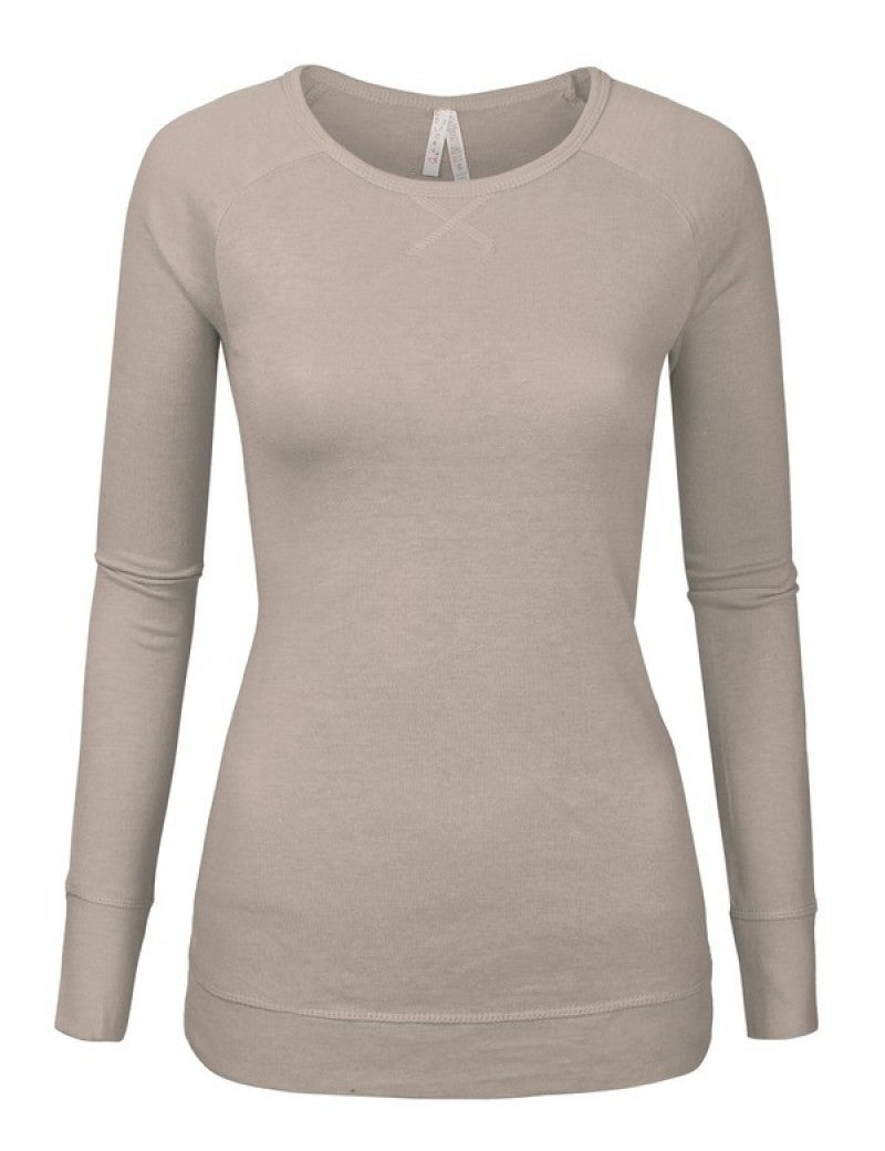 Womans Junior Long Sleeve Sweater Top