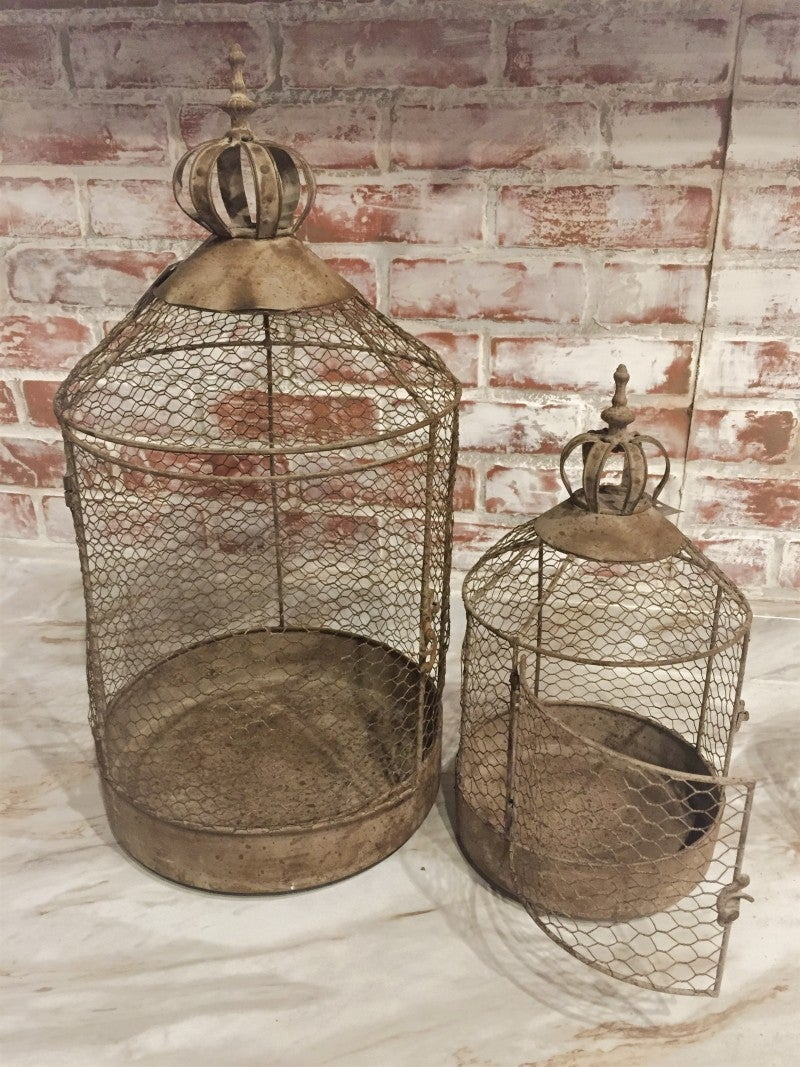 Nesting Chicken Wire Antique Cloche
