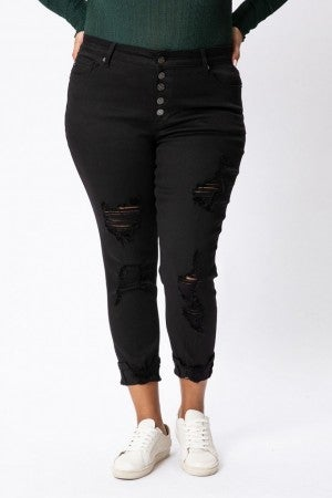 Kancan  Black Button Fly Jeans