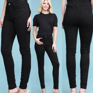 Black Straight Leg Skinny Jean *Final Sale*