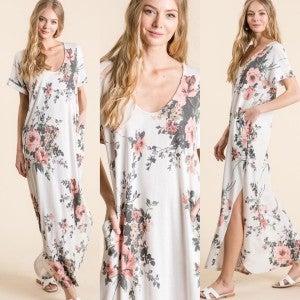Floral Terry Cloth Maxi