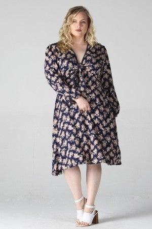 Floral Front Tie Midi Dress *Final Sale*