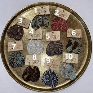Leather Cut earrings