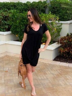 Twist Front Tshirt Dress