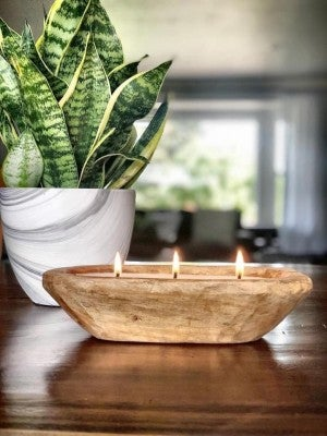 Flare Small Dough Bowl 3 wick candle
