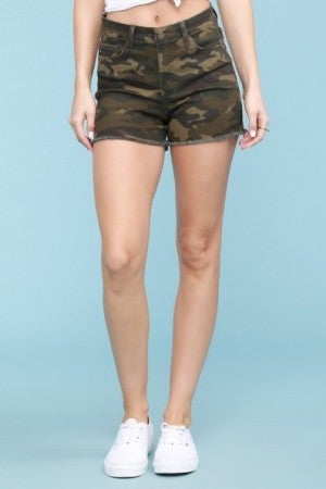 Camo Cut Off Shorts