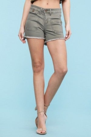 Olive Cut Off Shorts