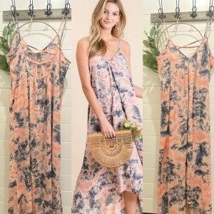 TYEDYE Strappy Maxi Dress