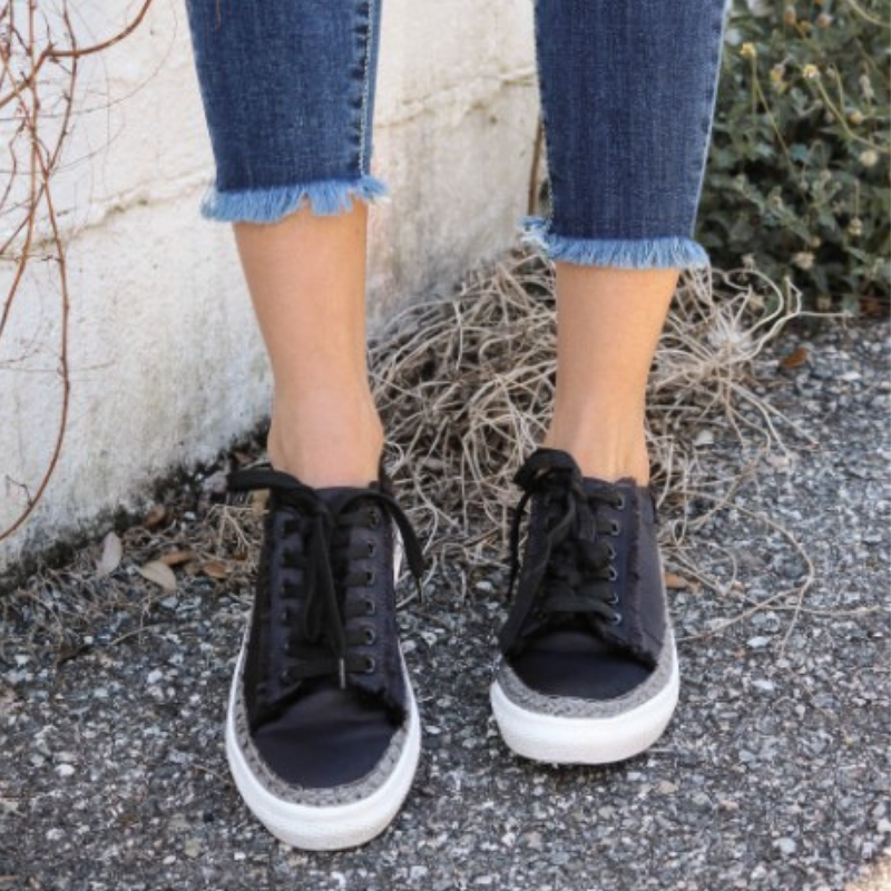 Ariel Black Lace Up Shoe