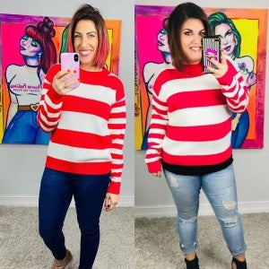 Chick Flick Stripe Top