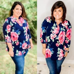 Curvy Exclusive! Catch the Bouquet Top