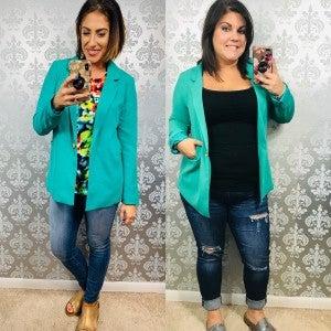 Emerald Sharp Dressed Woman Blazer