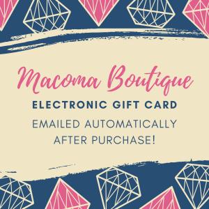 Macoma Electronic Gift Card