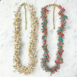 Cluster Seed Bead Necklace