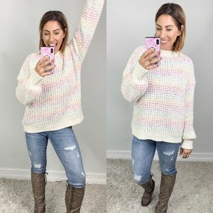 Somewhere Over The Rainbow Chenille Sweater
