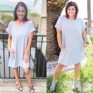 Slay In Grey Dress