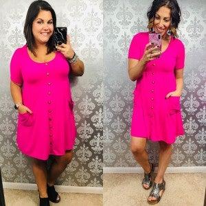 Macoma Sweet Like Pink Candy Dress