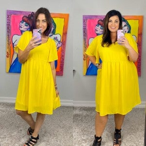 They Call Me Mellow Yellow Dress