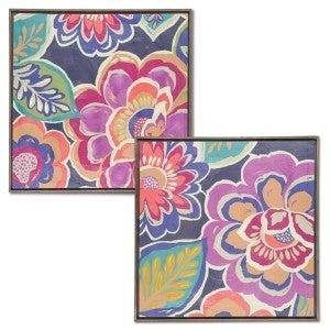 Canvas Floral Wall Decor