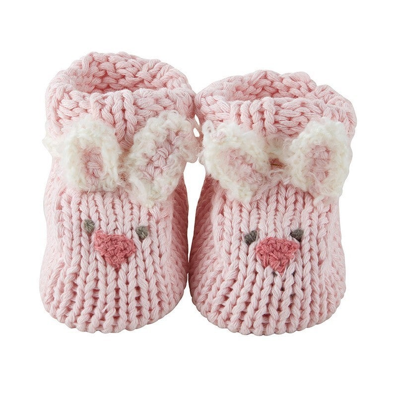 Pink Bunnie Knit booties *Final Sale*