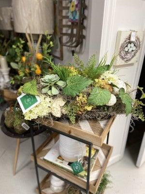 Tin Tray Floral Arrangement