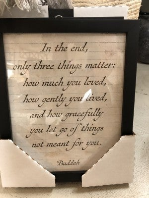 8X10 Quotes on lined paper framed
