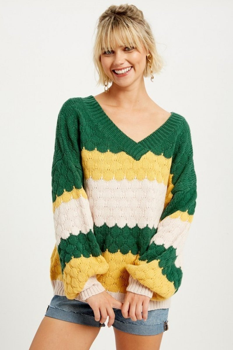 Chunky V Neck Sweater *Final Sale*