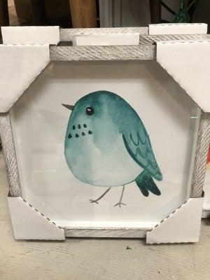 Chubby Birds Framed wall art
