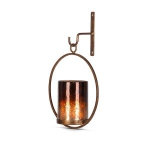 Gold wall sconce