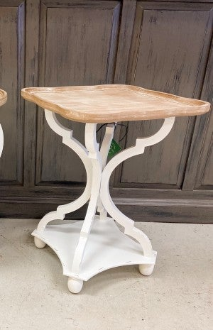 Wood Accent Table Square