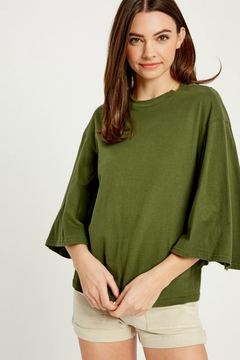 Wide Sleeve Knit Top *Final Sale*