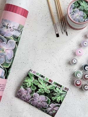 Such a Succulent Paint by Number Set by Pink Picasso