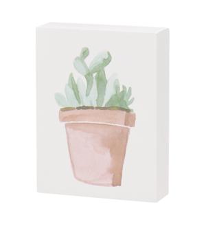 Prickly Succulent Block Sign