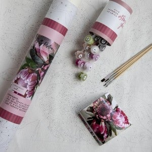 Pretty Protea Paint by Number Set by Pink Picasso