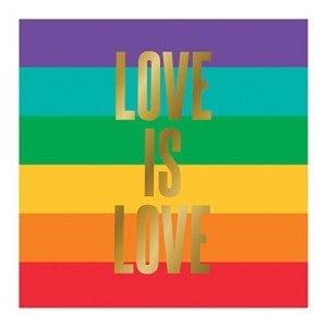 Love is Love Beverage Napkin
