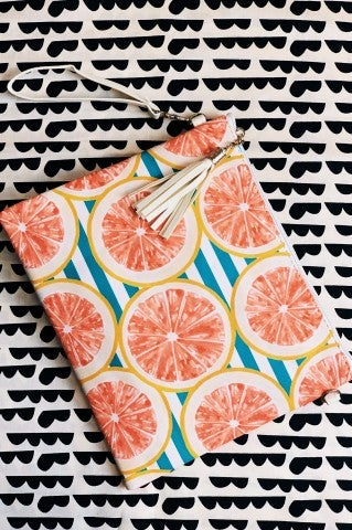 Grapefruit Carry All Accessory Bag