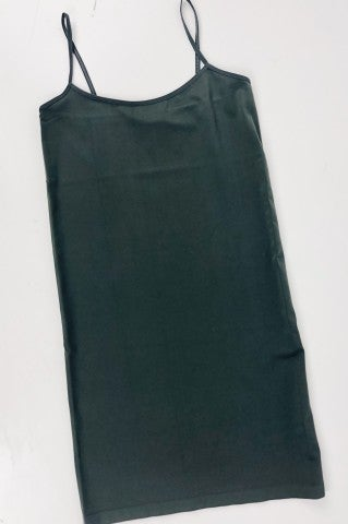 Simply Basic Plus Size Slip - Charcoal