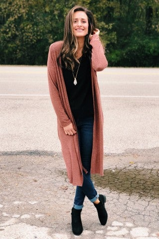 Casie Cardigan - Rust