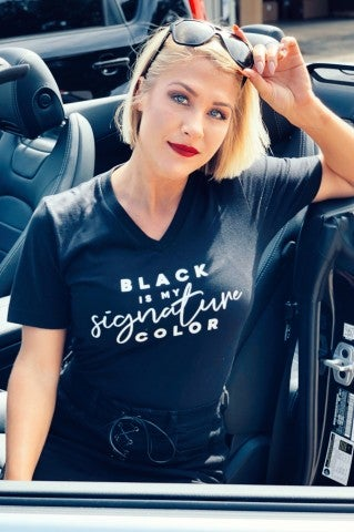 Black Is My Signature Color Tee