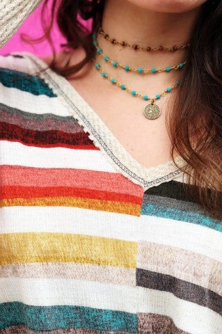 Wrap Me Up Choker- Turquoise